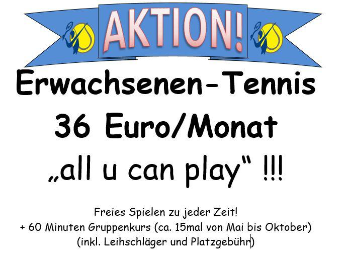 Aktion 36Euro all u can play